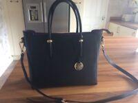 Black Leather Bag - Jane Shilton