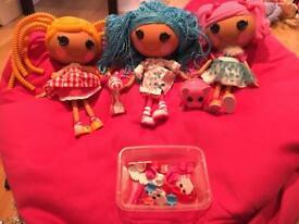 Lalaloopsie dolls