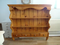 Solid Country Pine Wall Dresser Unit Shelf Plate Rack Shabby Chic Project