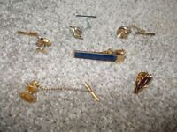 Large collection of cuff links & tie pins