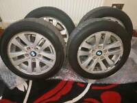 BMW 16INCH ALLOYS WITH TYRES