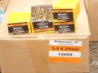 3.5 x 25mm multi purpose wood screws 200 screws per box