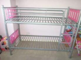 3FT Single Metal Bunk Bed Frame 2 Children Split into 2 Beds