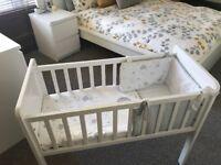 Baby's white crib