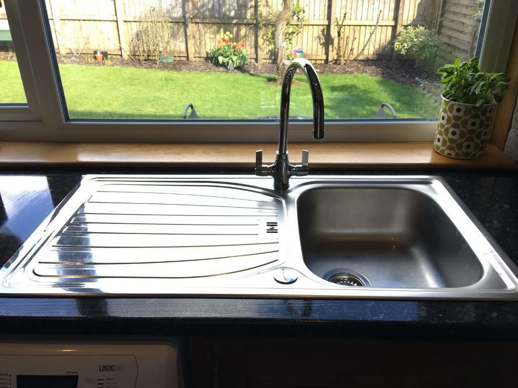Kitchen stainless steel sink and tap | in Giffnock, Glasgow | Gumtree