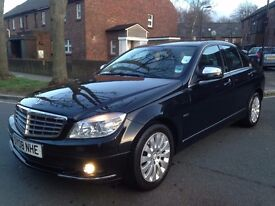 MERCEDES C 220 CDI ELEGANCE AUTO LEATHERS SAT NAV FULL SERVICE HISTORY HPI CLEAR P/X WELCOME