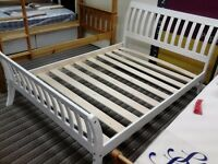 4ft6 Whitewash Parma Bed - £149