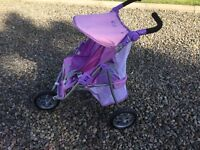 Kids 3 wheel double pram