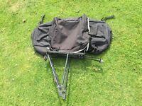 Delta aluminium bike rack and double bag