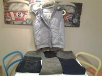 LADIES SIZE 14 .. ALL NEW+UNWORN .. BODYWARMER WITH HOOD & 6 PAIRS JEANS+TROUSERS