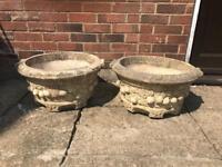 Plant pots , stone 40 cm x2 £10 for both
