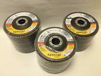 Dronco Medium Zirconia Aluminium Flap Discs 10x115mm G80/G40/G60 Box of 10