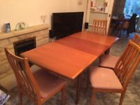 """""""MERIDEW"""" EXTENDING DINING TABLE AND 4 CHAIRS"""