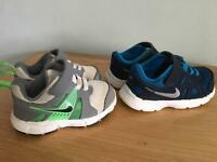 2x Nike Infant Trainers Size 5 & 6.5