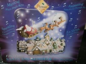 Fibre Optic Santa and Reindeer