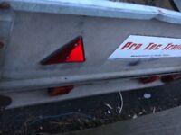 Protec twin axel drop side 8x4.5ft trailer