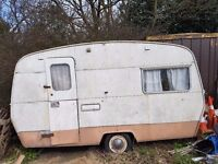 Vintage SPRITE alpine caravan. Restoration project