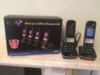 Bath Gently Used BT Cordless Phones with Answering Machine