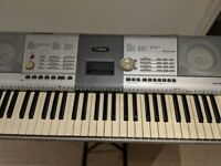 FULLY WORKING YAMAHA PSR-295 Portatone 61-Key Touch-Sensitive Musical Keyboard WITH MUSIC REST