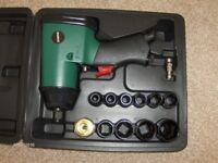 pneumatic impact driver(half inch) and sockets