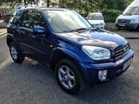 2001..TOYOTA RAV4 NRG VVTI A/C 2.0e..NEW FULL MOT..LOW MILAGE 93K..FULL SERVICR+NEW OIL..NO ADVISORY