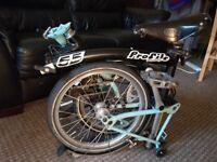 Brompton bike excellent condition w Brooks saddle