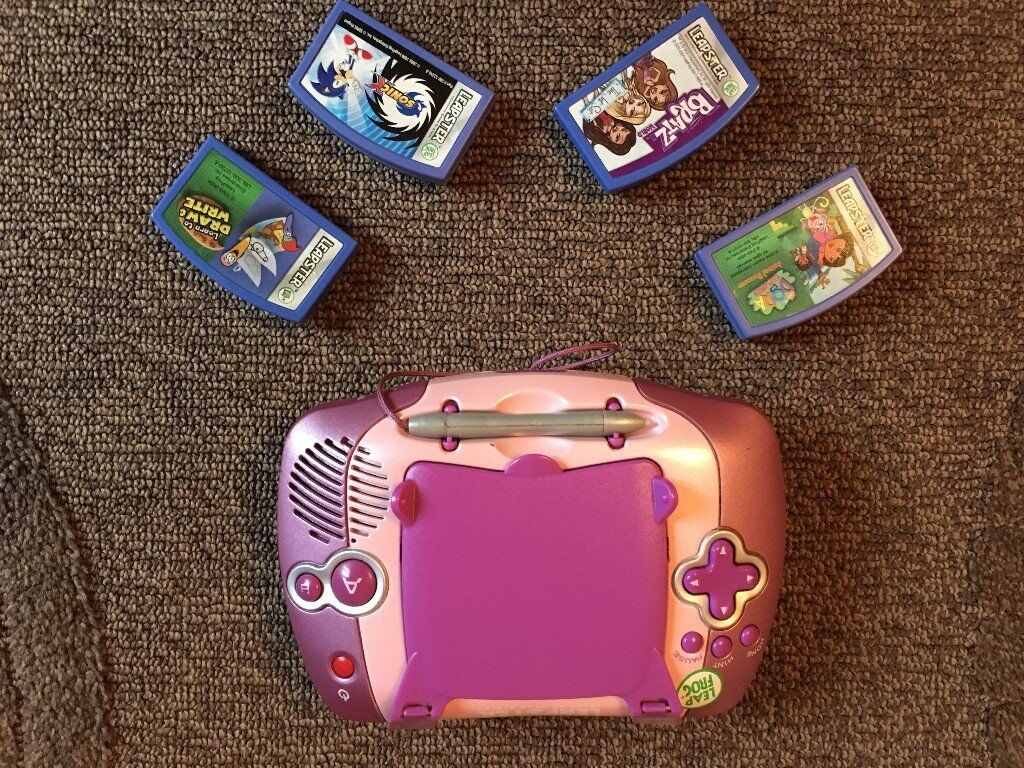 Leap Frog Pink LEAPSTER console Multimedia Learning Centre