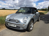 MINI COOPER CONVERTIBLE 2007 low milage.