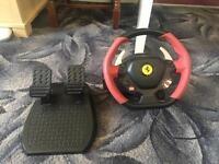 Thrustmaster Ferrari 458 Spider Wheel and Pedals