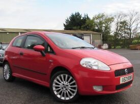 2006 FIAT GRAND PUNTO 1.4 SPORTING 3 DR 80245 MILES MOTD SEPT 18 EXCELLENT CONDITION