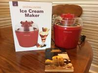 Andrew James ice cream maker red