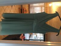 Green bridesmaid/formal dress, size 14. Only worn once