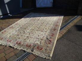 Beautiful hand made wool rug.