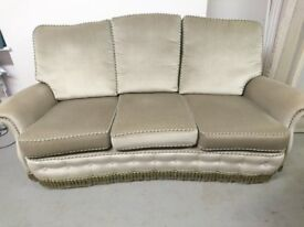 Olive Green Sofa with 2 Arm Chairs