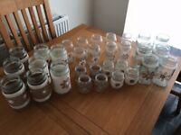 Rustic wedding centrepiece glass jars