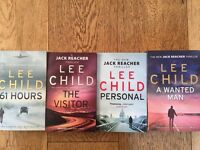 Four Lee Child books from the Jack Reacher series - Excellent condition