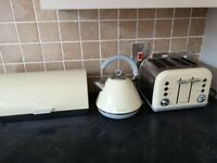 Morphy Richards Kettle, Toaster and Bread Bin set