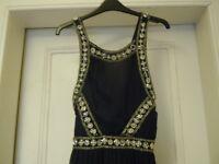 Topshop navy maxi dress, size 8