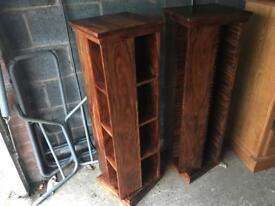John Lewis Indian Sheesham Wood Rotating Cd/DVD storage