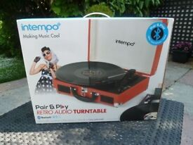 Record Player NEW SEALED Turntable Bluetooth Portable with Rechargeable Battery