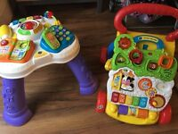 Baby walker AND activity table