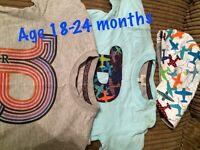 Baby baker bundle 2 tshirt age 18-24 monthsand a soft reversible cap