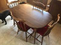 Wooden Table & 4 Chairs
