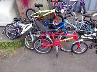 BIKES BIKES BIKES} Approx 40 bikes- various conditions/sizes/types- Raleigh Chopper bmx mountin.