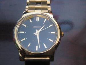 Citizen Men's Slim Quartz Gold Plated Stainless Steel Watch. Like NEW. Original Citizen.