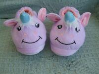 LOVELY PAIR GIRLS UNICORN SLIPPERS size 13.