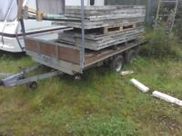 Galvanized double axle flatbed(like ifor Williams)