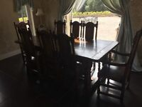 Dining table and 8 Chairs -selling due to renovation