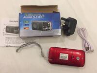 Rechargeable FM Gurbani Radio With Over 600 Tracks with UK Adapter Plug