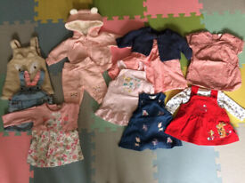 Newborn & 0-3 months bundle of baby girl clothes and accessories